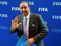 FILE PHOTO - Kuwait's member of the FIFA executive committee Sheikh Ahmad al-Fahad al-Sabah poses for photographers in Zurich
