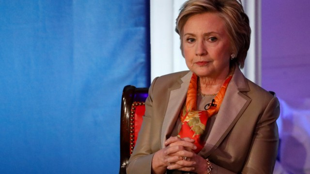 Former U.S. Secretary of State Clinton takes part in the Women for Women International Luncheon in New York