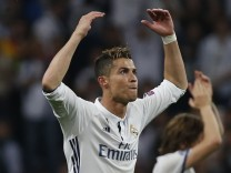 Real Madrid's Cristiano Ronaldo celebrates after the match