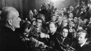Albert Speer kurz nach seiner Entlassung, 1966