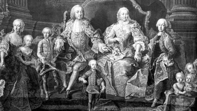 Kaiserin Maria Theresia mit ihrem Mann und ihren Kindern,