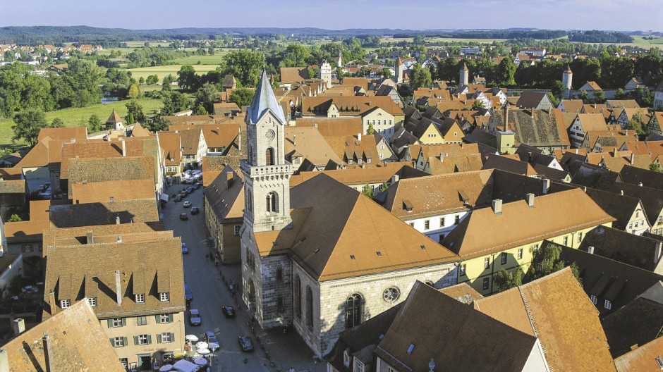 Dinkelsbuehl Altstadt Bayern Deutschland Copyright xMEVx ALLMVDE0432