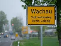 Polizeieinsatz in Wachau bei Leipzig
