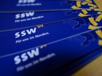 Landtagswahl in Schleswig-Holstein - Werbeflyer des SSW