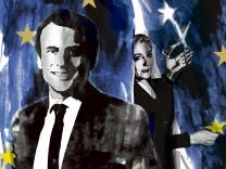Frankreich, Le Pen, Macron, Illustration