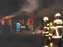 Brand eines Gartenhauses in Herrsching