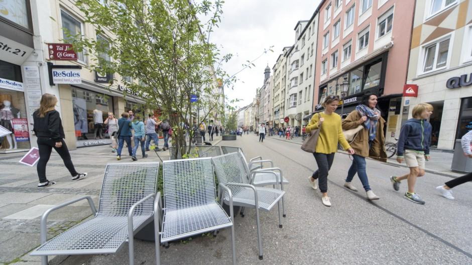 Fußgängerzone in München, 2016