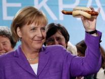 Wahlkampf Merkel in Thüringen