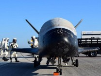Handout out the U.S. Airforce's X-37B Orbital Test Vehicle mission 4 after landing at NASA's Kennedy Space Center Shuttle Landing Facility in Cape Canaveral