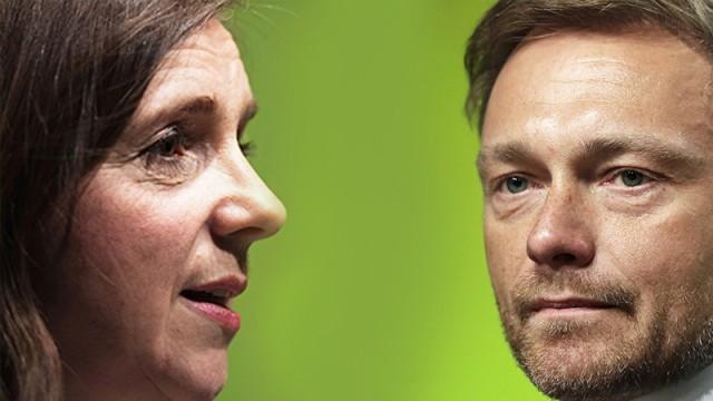 Katrin Göring Eckardt und Christian Lindner.