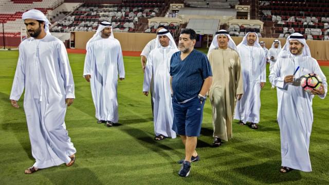 Diego Maradona Trainer bei Fudschaira Sports Club