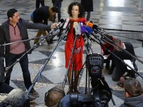 Andrea Titz spokeswoman of the regional court gives a statement about the trial against Bayern Munich President Uli Hoeness in Munich