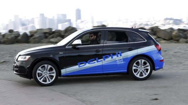 Autonom fahrender Audi SQ 5 des Zulieferers Delphi.