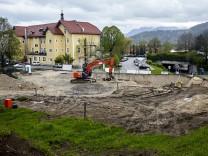 Baustelle an der Osterleite - Krankenhausstraße