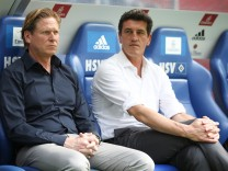 SV Hamburg coach Markus Gisdol  and sports director Jens Todt