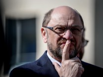 Martin Schulz Campaigns For The SPD In North Rhine-Westphalia State Elections
