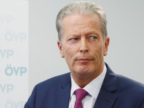 Austrian Vice Chancellor Mitterlehner addresses a news conference in Vienna
