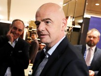 FIFA President Gianni Infantino arrives to attend CONCACAF Congress ahead of the 67th FIFA Congress in Manama