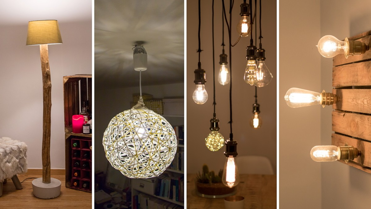 Diy Vier Lampen Zum Selbstbauen Stil Süddeutschede