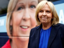 FILE PHOTO: North Rhine-Westphalia State Premier and Social Democrats (SPD) candidate Hannelore Kraft is seen during an election campaign tour in Hagen
