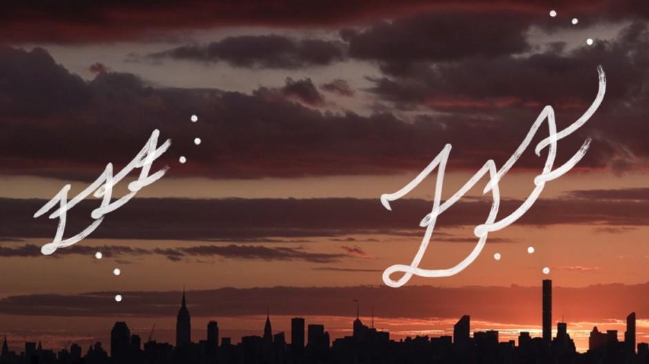 New York Skyline Sonnenuntergang