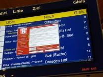 Weltweite Cyber-Attacke - Hauptbahnhof Chemnitz
