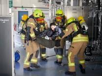 Roche Penzberg Feuerwehrübung