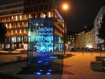 Denkmal für Kurt Eisner in München, 2011