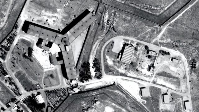 Das berüchtigte Militärgefängnis Saidnaya in Syrien.