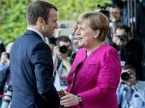 Antrittsbesuch des französischen Präsidenten Macron