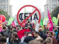 Protest gegen Handelsabkommen Ceta