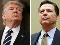 US-Präsident Donald Trump und Ex-FBI-Direktor James Comey