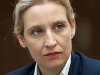 """Muss vorläufig die Titulierung """"Nazi-Schlampe"""" hinnehmen:die AfD-Spitzenkandidatin Alice Weidel."""