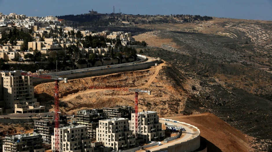 FILE PHOTO: A general view shows the Israeli settlement of Ramot in an area of the occupied West Bank that Israel annexed to Jerusalem