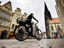 Radfahrer auf dem Prinzipalmarkt Münster