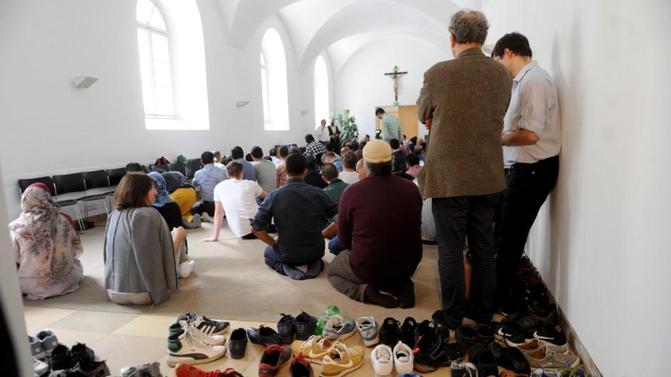 Süddeutsche Zeitung München Demo gegen Moscheenot