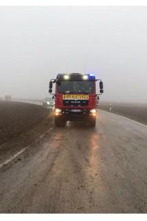 Feuerwehr Purfing mit Traktor im Einsatz