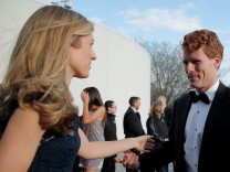 U.S. Congressman Joe Kennedy III and his wife Lauren arrive for the 2017 Profile in Courage Award ceremony, being given to former U.S. President Barack Obama, at the John F. Kennedy Library in Boston, Massachusetts