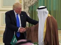 US-Präsident Donald Trump mit dem saudischen König Salman bin Abdulaziz al-Saud