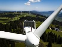 Winkraftanlage in der Schweiz
