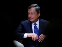 ECB President Draghi attends a ceremony to receive the Gold Medal of the Jean Monnet Fondation for Europe in Lausanne