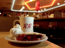 A slice of cherry pie is pictured at Twede's Cafe, the location of the Double R Diner in the 'Twin Peaks' television series in North Bend