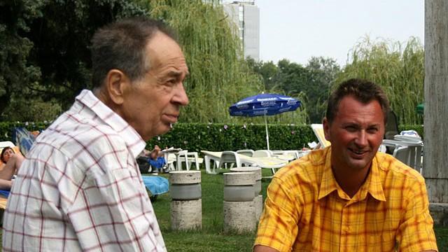 Mihai Paduretu, ehemaliger Trainer des früheren Volleyball-Bundesligisten Generali Unterhaching und sein Vater Eugeniu