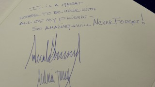 Trumps Gästebuch-Eintrag in Yad Vashem