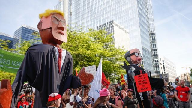 POLITICS TRUMP VISIT PROTEST ACTION