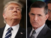 FILE PHOTO: A combination photo shows U.S. President Donald Trump, White House National Security Advisor Michael Flynn and FBI Director James Comey in Washington