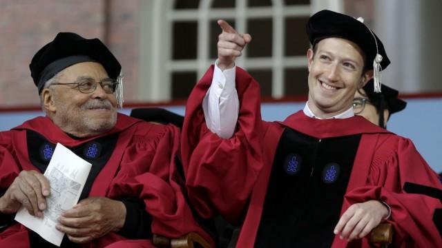 Mark Zuckerberg erhält Ehrendoktorwürde