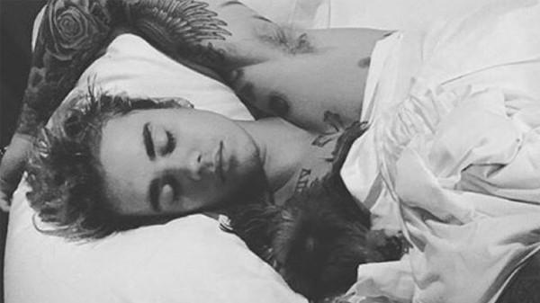 Justin Bieber mit Hund