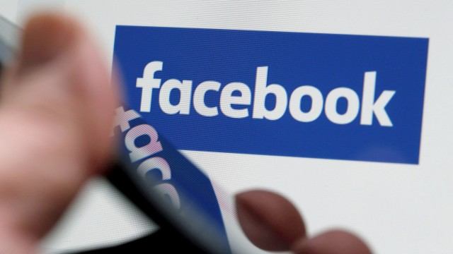 FILE PHOTO: The Facebook logo is displayed on the company's website in an illustration photo taken in Bordeaux France