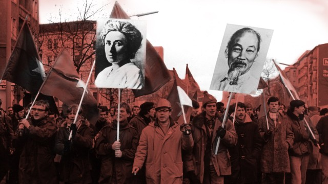 Vietnam-Demonstrationn im Februar 1968 in Berlin